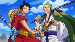 Luffy and Zoro Meet Again in Wano