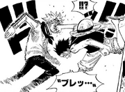 Luffy Defeats Koby at Marineford