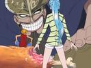 Luffy e Vivi conhecem o gigante Dorry