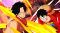 One Piece Unlimited World Red Luffy et Ace face à Akainu