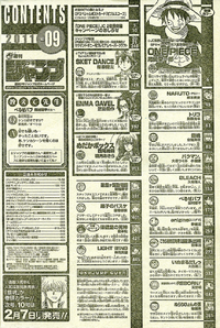 Shonen Jump 2011 Issue 09 TOC