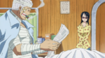 Smoker lisant le journal dans l'anime