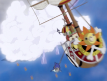 Thousand Sunny Escapes Whole Cake Island
