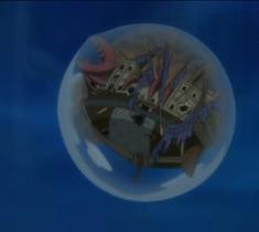 Bateau de Gyro détruit par Hody.