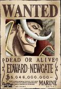 Cartel de recompensa de Edward Newgate