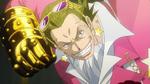 Gild Tesoro utilise un gant en or