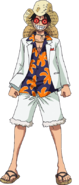 Luffy Film Gold White Casino Outfit