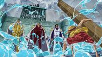 Luffy Menghadapi Tiga Laksamana