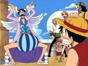 Mr.2 ahmt Luffy nach