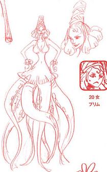 Charlotte Prim Manga Concept Art
