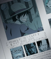 Luffy, Garp, Dragon et Ace dans le journal