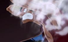 Luffy usa el gear second por primera vez