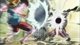 Luffy vs Minotaurus