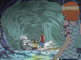 Luffy y Nami se encuentran con Ryuji