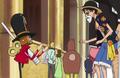 Sol hablando con Luffy