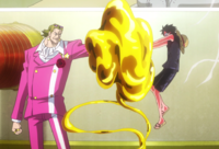 Film Gold Luffy attacks Tesoro