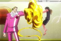 Film Gold Luffy attacks Tesoro