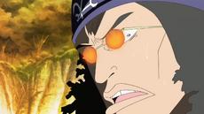 Kuzan horrorizado ante las acciones de Sakazuki