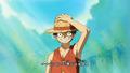 Fight Together Luffy la main sur son chapeau