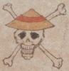 Jolly Roger Piratas de Sombrero de Paja estilo japonés