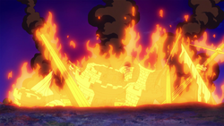 Nostra Castello in fiamme