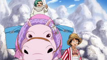 Caramel Shows Luffy the Cidre Guild Factory