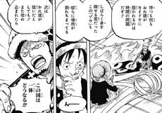 Law discute con Luffy sobre su situación con Kaido