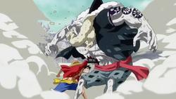 Luffy Punches Hody Jones