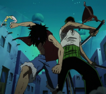Luffy e Zoro Derrotam Miss Valentine e Mr. 5