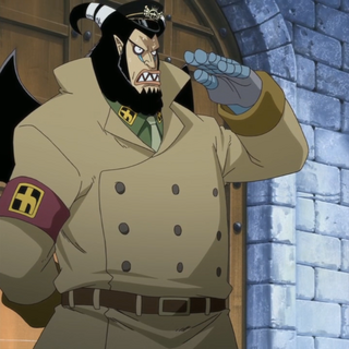 Magellan nel ruolo di vicedirettore quando evase Shiki