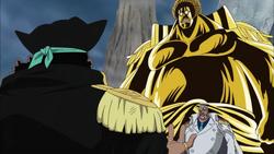 Garp e Sengoku vs. Barba Negra