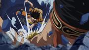Luffy Defeats Bellamy Dressrosa
