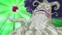 Rei Baum ataca um Soldado de Biscoito