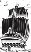 Drake Pirates Ship Back