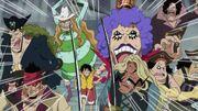 Luffy wird zum Schafott eskortiert
