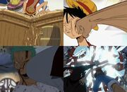 Luffy zoro vs pirata bellamy