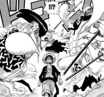 Zoro and Sanji Block Dosun and Ikaros Much