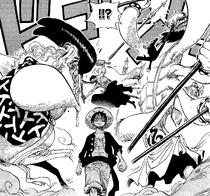 Zoro and Sanji Block Dosun and Ikaros Much