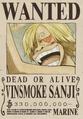 Cartel de recompensa de Sanji