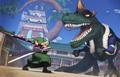 Zoro vs X-Drake One Piece Pirate Warriors 4