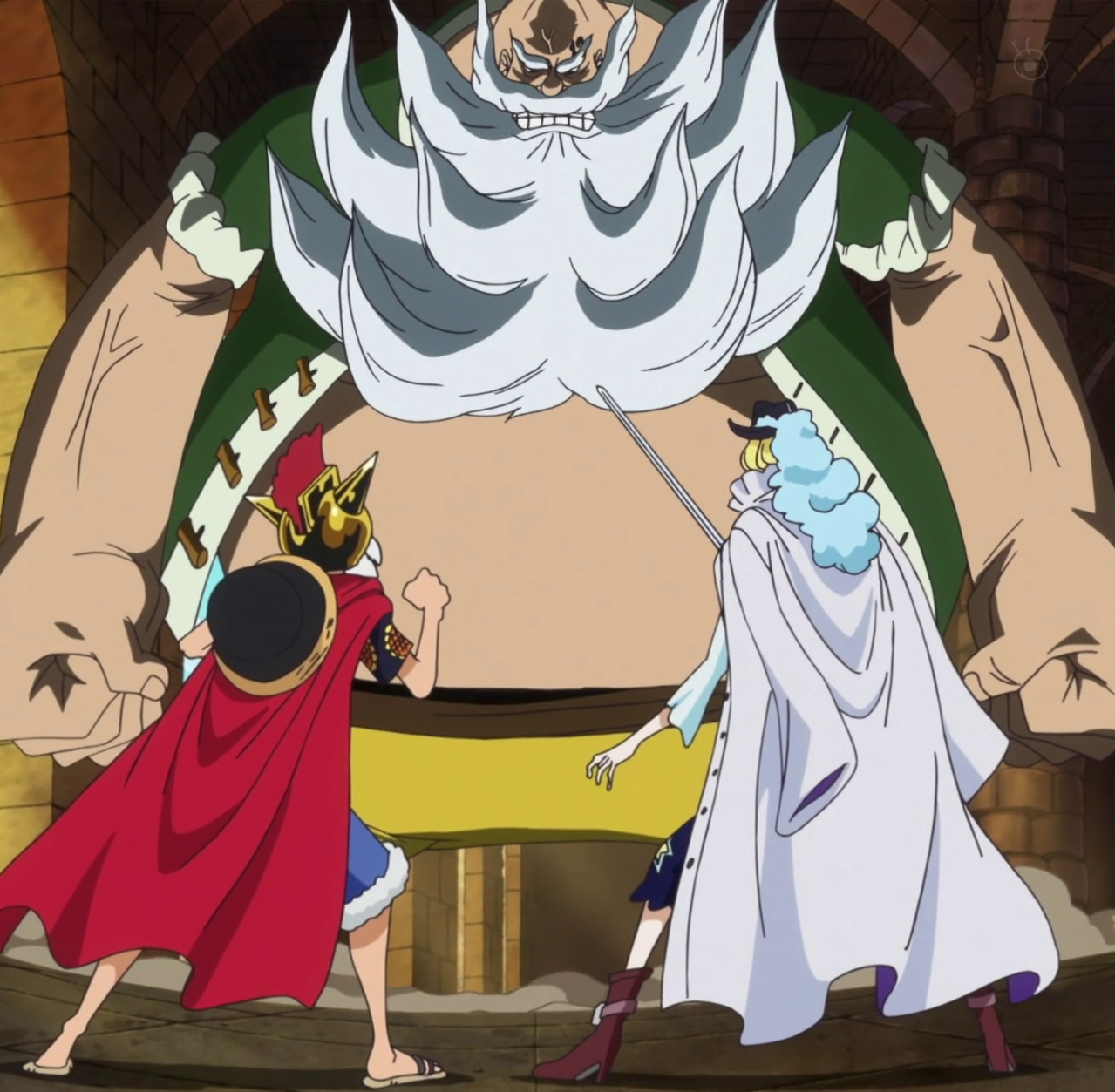 Ace And Luffy Fighting Against Marine Officers: Chinjao Vs. Cavendish Vs. Monkey D. Luffy
