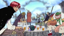 Red Hair Pirates in a Winter Island