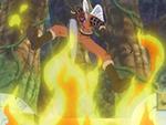 Shura met le feu au Merry avec sa lance