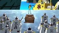 Law amenant 10 coeurs de pirates à la Marine
