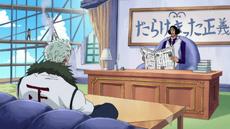 Aokiji y smoker