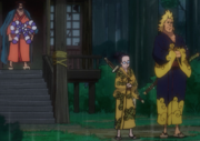 Denjiro y Kin'emon siguen a Oden