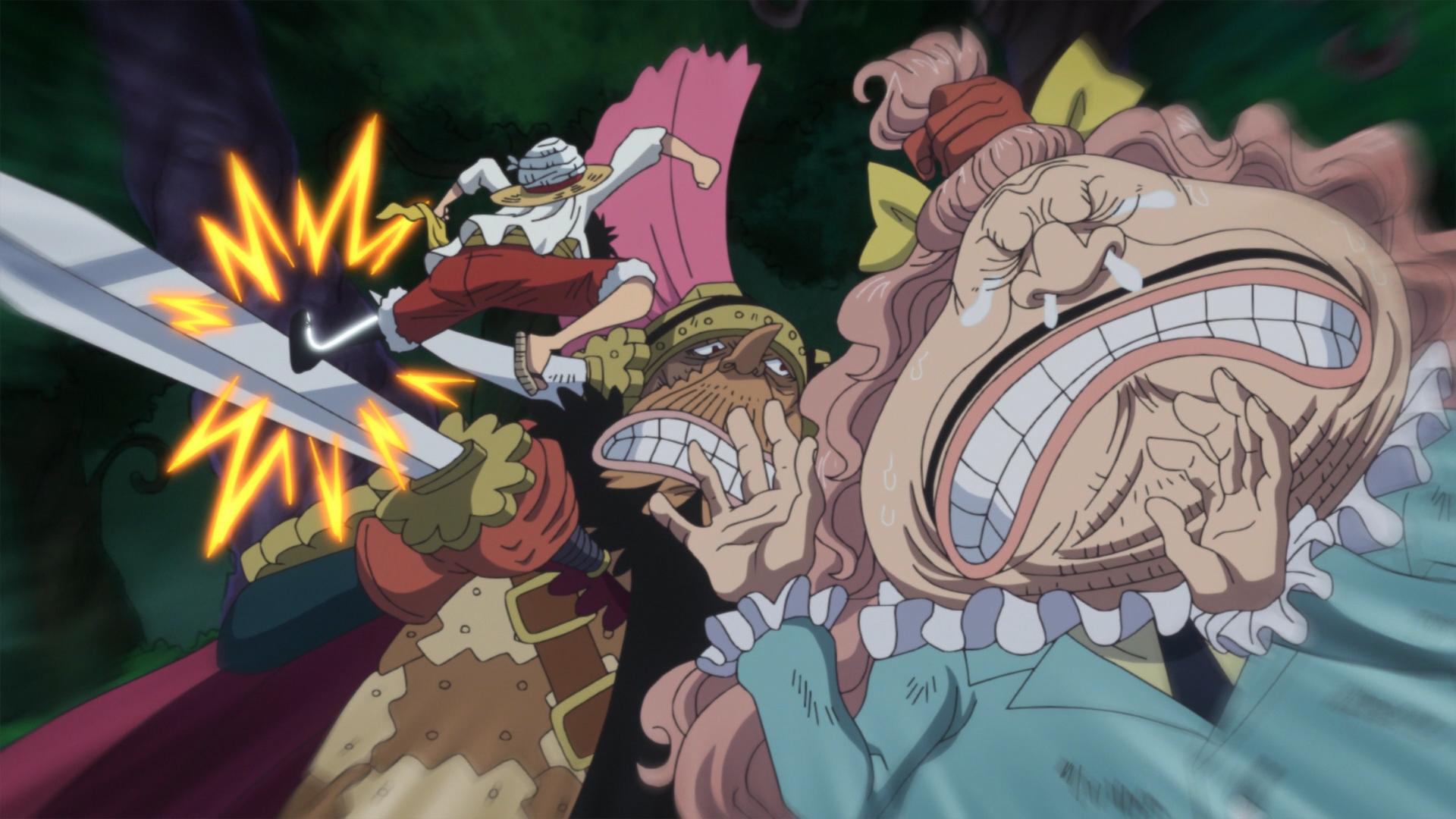Luffy Fights Cracker