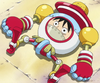 Monkey D. Luffy as a Toy in the Anime