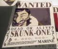 Skunk One Wanted Poster