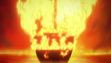 El barco de Igaram explota